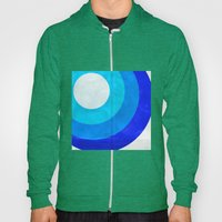 The Moon Circles Blue Hoody
