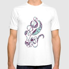 Silk White SMALL Mens Fitted Tee