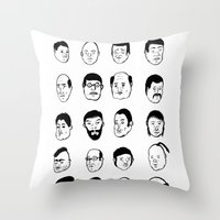 Faces Throw Pillow