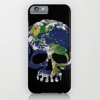 iPhone & iPod Case featuring Skull Earth by Mendelsign