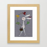 radish ring Framed Art Print