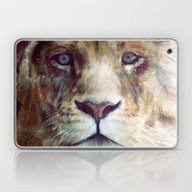 Laptop & iPad Skin featuring Lion // Majesty by Amy Hamilton