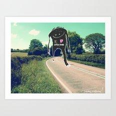 I love open roads Art Print