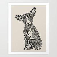 Polynesian Chihuahua Art Print
