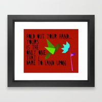 Hummingbird - The Weepies Lyrics Framed Art Print