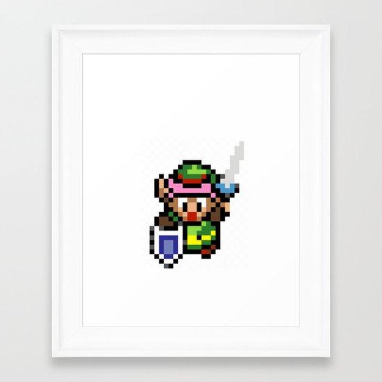 Legend of Zelda - Link Framed Art Print