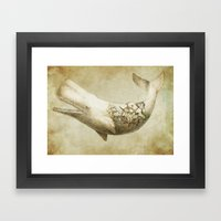 Far and Wide (sepia option) Framed Art Print