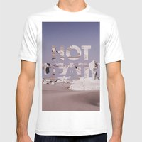 HOT DEATH Mens Fitted Tee White SMALL