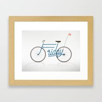 Lovely Friday Framed Art Print