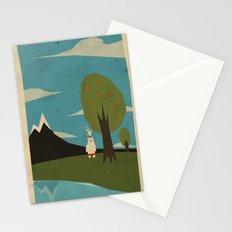 Yeti hearts bunny Stationery Cards