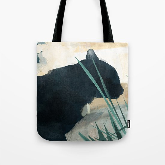 Skelly Cat in the Grass Tote Bag