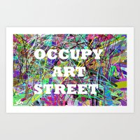 OCCUPY Art Print