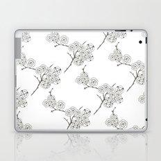 Japanese Trees ( Japan, Asia, Black-White, Delicate, Elegant print ) Laptop & iPad Skin