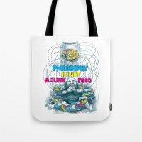 Philosophy is not a junk food Tote Bag