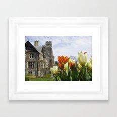 Castle Tulips Framed Art Print