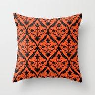 Throw Pillow featuring Halloween Trellis Ikat by Sharon Turner