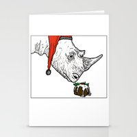 Christmas Rhino Stationery Cards