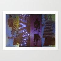 DropArt collage Art Print