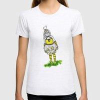 The BumbleBee Girl  Womens Fitted Tee Ash Grey SMALL