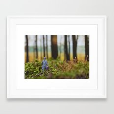 In Search of Bigfoot (Ode to Thoreau) Framed Art Print