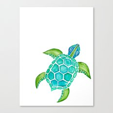 Watercolor Sea Turtle Canvas Print
