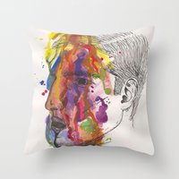 Breathe In Colour Throw Pillow
