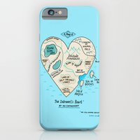iPhone Cases featuring A Map of the Introvert's Heart by gemma correll