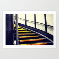 Up the Yellow Stairs Art Print