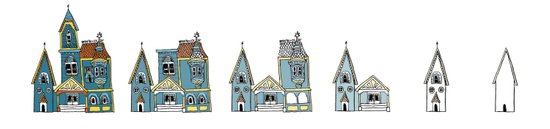 Sub(tract) housing in blue Art Print