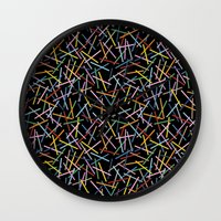 Kerplunk Black 2 Wall Clock
