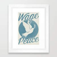 Wage Peace Framed Art Print
