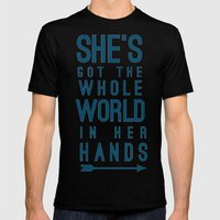 She Mens Fitted Tee Black SMALL