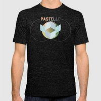 PASTELLE VIBES Mens Fitted Tee Tri-Black SMALL