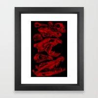 Carnivores In Red Framed Art Print