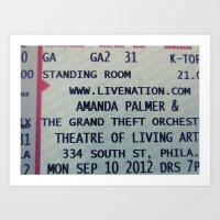Amanda Palmer & the GTO: Standing Room Art Print