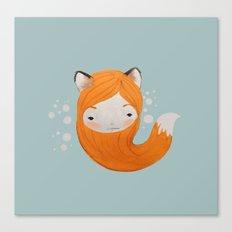 Fox Girl Canvas Print