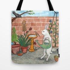 Rabbit's Garden Tote Bag