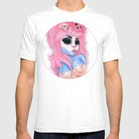 Candy Pink Disorder Mens Fitted Tee White SMALL