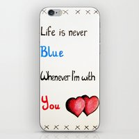 Valentine's: Never Blue iPhone & iPod Skin