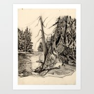 Art Print featuring By The Lake by Felicia Atanasiu