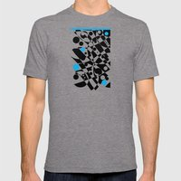 Black And Blue And White… Mens Fitted Tee Tri-Grey SMALL