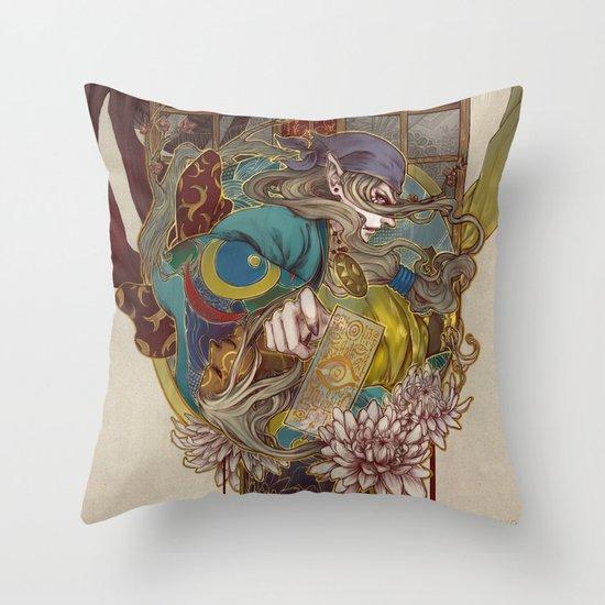bakeneko Throw Pillow