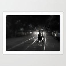 Streets of Kolkata Art Print