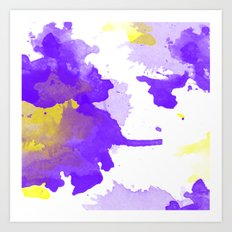 ABSTRACT WATERCOLOUR VIOLET Art Print