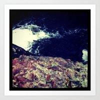 cliffface Art Print