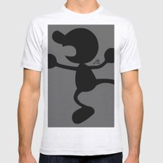 Mr.Game&Watch(Smash) Mens Fitted Tee Ash Grey SMALL