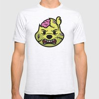 Zombie Winnie Mens Fitted Tee Ash Grey SMALL