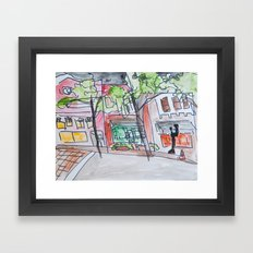 downtown wilmington Framed Art Print