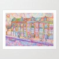 Wandering Amsterdam - Co… Art Print