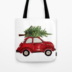 Red Christmas Beetle  Tote Bag